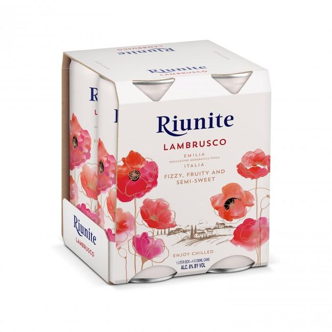 Riunite Lambrusco Rosu Emilia IGT 0.25L